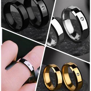 ステンレスリング ステンレス指輪 シンプル一粒リング(リング(指輪))