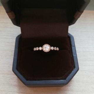 K18/ハーフエタニティ/ダイヤモンドリング/VA、ageteお好きな方にも(リング(指輪))