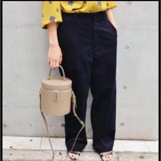 IENA - 太コールタックパンツ◆ ネイビー