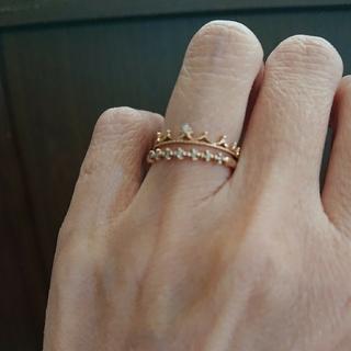 (らっこ様専用)K10  ダイヤリング(リング(指輪))
