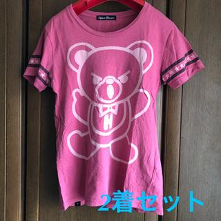 HYSTERIC GLAMOUR - ファックベアー  プリントTシャツ 2枚セット