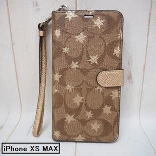 コーチ(COACH)のコーチ 手帳型 iPhone XS MAX ケース シグネチャー☆星 スター(iPhoneケース)