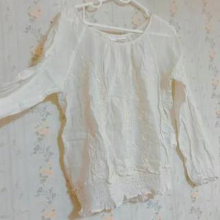 """ミスティウーマン(mysty woman)の刺繍♡""""シンプル(シャツ/ブラウス(長袖/七分))"""