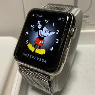 アップルウォッチ(Apple Watch)のApple Watch(第 1 世代)42mm ステンレス 純正ミラネーゼループ(その他)