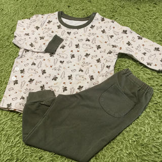 UNIQLO - baby UNIQLO 長袖薄手パジャマ 90