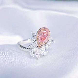 GIA♡ペアシェイプL.Pinkダイヤモンドリング(リング(指輪))