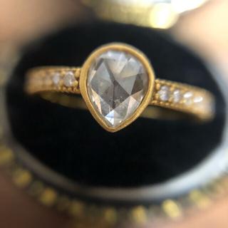 K18 ローズカット ダイヤ リング(リング(指輪))