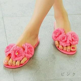 sale☆フラワーサンダル/ピンク(サンダル)