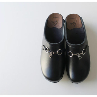 Swedish Clog - Plain Toe / Bit BLACK(ドレス/ビジネス)