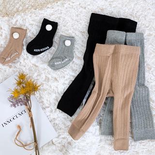 ポンポン付き靴下&ベビーレギンス セット