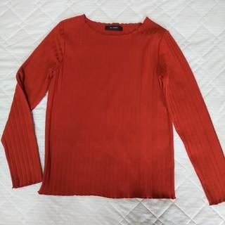 ダブルクローゼット(w closet)の長袖カットソー*長袖ティシャツ*テラコッタ色(Tシャツ(長袖/七分))