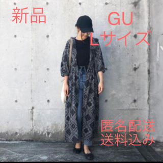 ジーユー(GU)のGU ジーユー バンダナプリントワンピース 新品 人気 完売 ガウン(ロングワンピース/マキシワンピース)