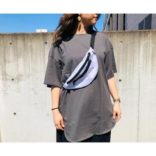 ヘビーウェイトオーバーサイズT(5分袖)ダークグレー