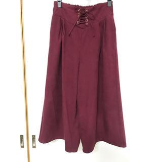 スズタン(suzutan)のnokea 編み上げガウチョパンツ♡M(カジュアルパンツ)