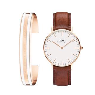ダニエルウェリントン(Daniel Wellington)のSALE【40㎜】ダニエルウェリントン腕時計+ブレスレットSET〈DW0106〉(腕時計(アナログ))