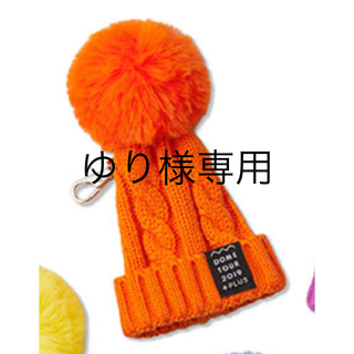 トリプルエー(AAA)のAAA ドームツアー2019 ニット帽キーホルダー 橙(ミュージシャン)