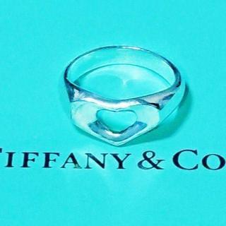 ティファニー(Tiffany & Co.)の☆新品☆未使用☆ティファニー くり抜きハートリング10号(リング(指輪))