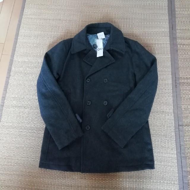 GU(ジーユー)のGU ★新品タグ付★濃グレー★ピーコート。 メンズのジャケット/アウター(ピーコート)の商品写真
