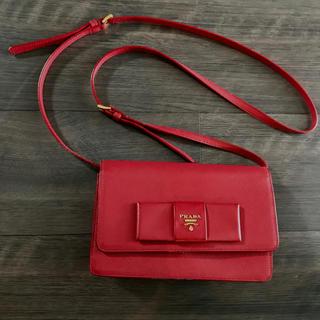プラダ(PRADA)のPRADA サフィアーノ ショルダーパース バッグ 長財布(ショルダーバッグ)