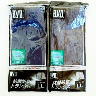 BVD 抗菌防臭トランクス 2枚セット LLサイズ
