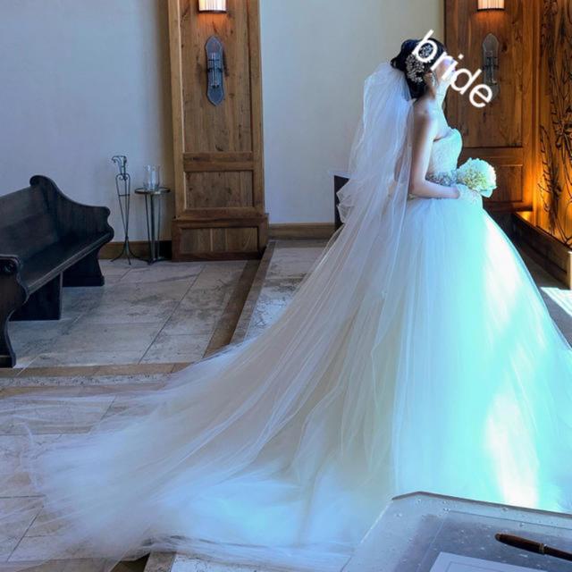 Vera Wang(ヴェラウォン)のVERAWANG 3段ベール レディースのフォーマル/ドレス(ウェディングドレス)の商品写真