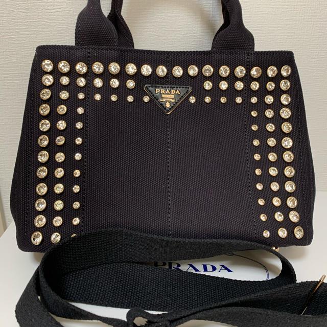 PRADA(プラダ)の【値下げしました】PRADA プラダ カナパ ビジュー S  レディースのバッグ(トートバッグ)の商品写真