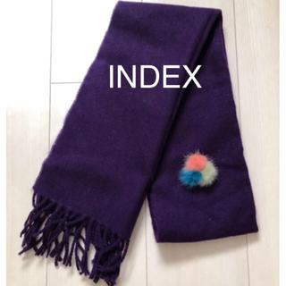 インデックス(INDEX)のマフラー&ブローチセット 冬物レディース クラシカル INDEX(マフラー/ショール)