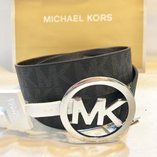 Michael Kors - 人気 ハイブランド マイケルコース MK ロゴ モノグラム 黒 ブラック ベルト