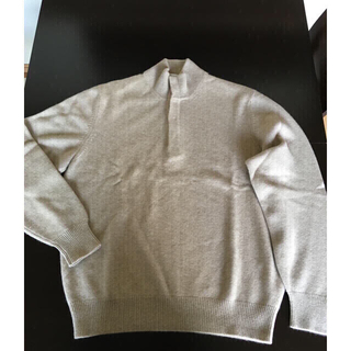 ブルネロクチネリ(BRUNELLO CUCINELLI)のブルネロクチネリ ベージュ カシミアハイネックセーター タートルニット 新品同様(ニット/セーター)