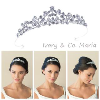 ヴェラウォン(Vera Wang)の【Maria】ivory&co. ❁ティアラ【新品未使用】(ヘッドドレス/ドレス)