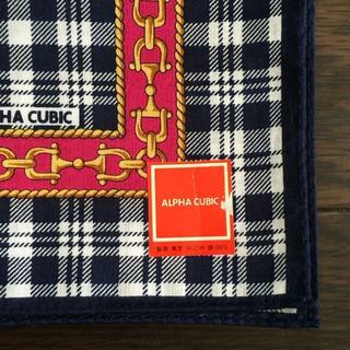 アルファキュービック(ALPHA CUBIC)の【ALPHA CUBIC】新品 ハンカチ(ハンカチ)