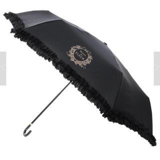 メゾンドフルール(Maison de FLEUR)のメゾンドフルール 日傘 ブラック フリル(傘)