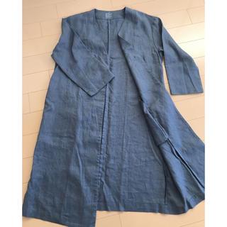 ムジルシリョウヒン(MUJI (無印良品))の無印良品 麻コート(ノーカラージャケット)