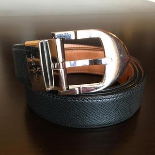 LOUIS VUITTON - ルイヴィトン タイガ 黒 シルバー シンプル LV ベルト ビジネス メンズ