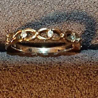 ヨンドシー(4℃)の4℃ ダイヤモンドピンキーリング(リング(指輪))