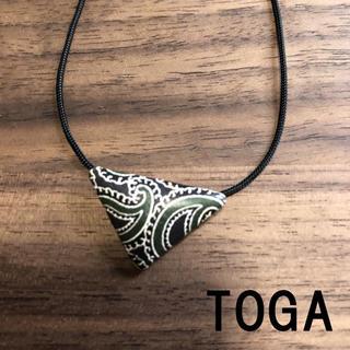 トーガ(TOGA)のトーガ TOGA ペイズリー柄ネックレス グリーン調×シルバー アクセサリー(ネックレス)
