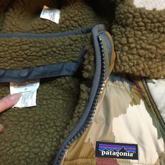 patagonia(パタゴニア)のpatagonia パタゴニア 5T リバーシブル ボア ジャケット キッズ/ベビー/マタニティのキッズ服 男の子用(90cm~)(ジャケット/上着)の商品写真