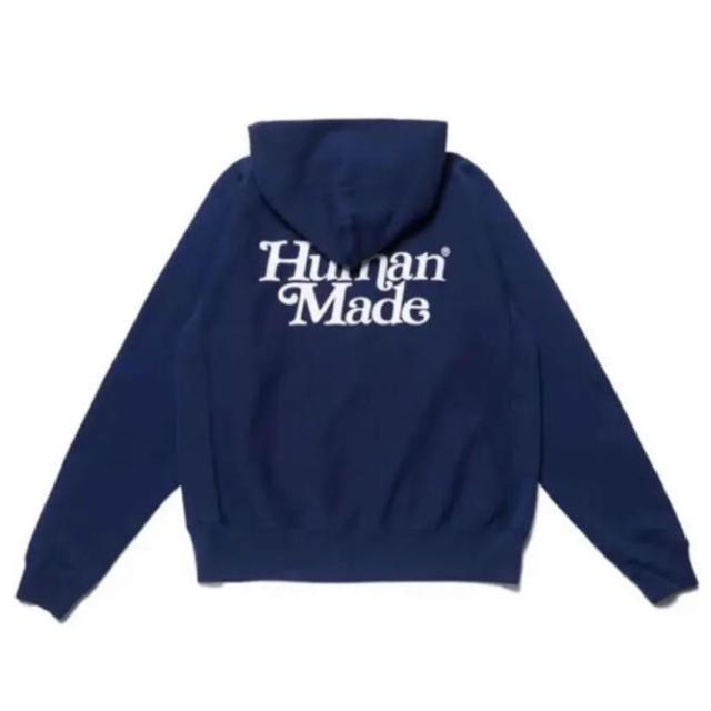 Girls don't cry Human made Navy パーカー L メンズのトップス(パーカー)の商品写真