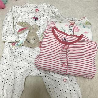 NEXT - カバーオール パジャマ 3枚セット 6-9month