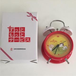スヌーピー(SNOOPY)の【非売品】スヌーピー 目覚まし時計(置時計)
