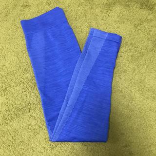 GU - トレーニング レギンス 青