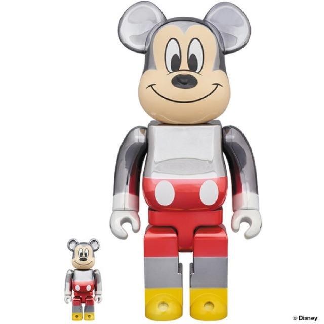 MEDICOM TOY(メディコムトイ)のBE@RBRICK fragmentdesign MICKEY 100.400% エンタメ/ホビーのおもちゃ/ぬいぐるみ(キャラクターグッズ)の商品写真