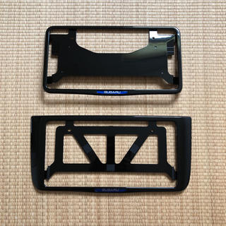 スバル - 新品 未使用 スバル純正 ナンバーフレーム前後セット