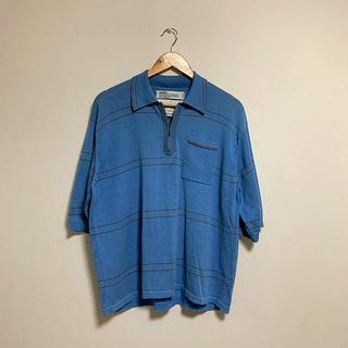 ジエダ(Jieda)のDAIRIKU 19ss half zip border polo knit (ポロシャツ)