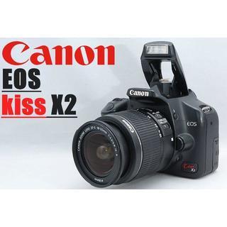 Canon - 人気のコンパクトボディ♪ Canon キャノン Kiss X2 レンズセット