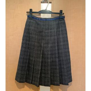 バーニーズニューヨーク(BARNEYS NEW YORK)のバーニーズニューヨーク☆SからMサイズ相当☆グレーチェック☆プリーツ☆スカート☆(ひざ丈スカート)