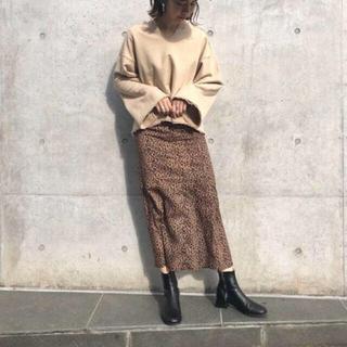カスタネ(Kastane)のカスタネ   レオパードマーメイドスカート  新品未使用タグ付き(ロングスカート)