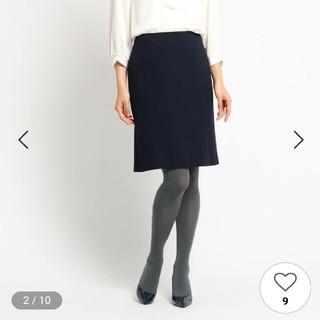 スーナウーナ(SunaUna)のSuna Una冬用膝丈スカート紺色36号(ひざ丈スカート)