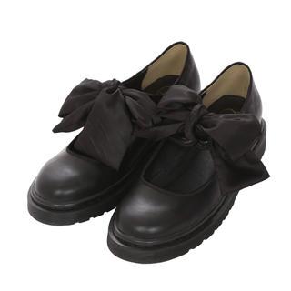 メリージェニー(merry jenny)のサテンリボンフラットシューズ(ローファー/革靴)