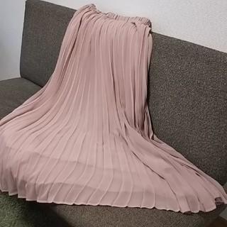 PLST - ほぼ未使用★シフォン プリーツロングスカート ピンク PLST